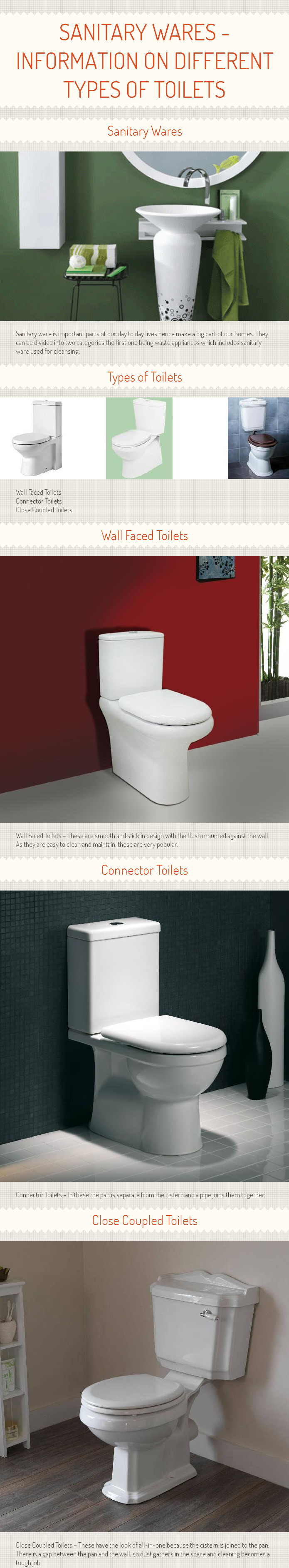 Sanitary Wares - Information on Different Types of Toilets [Infograph]