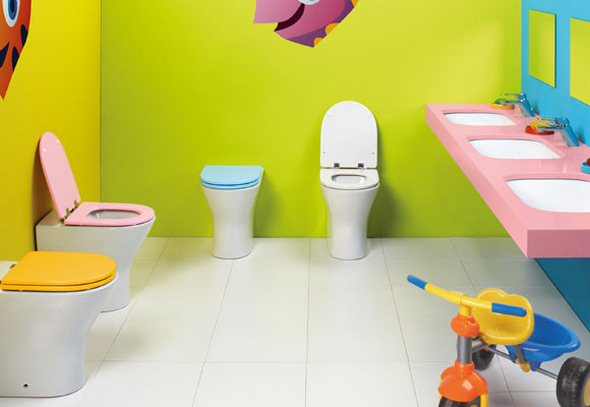 variety of sanitarywares suitable for kids