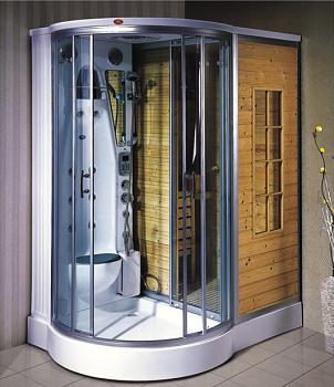 showers and sauna