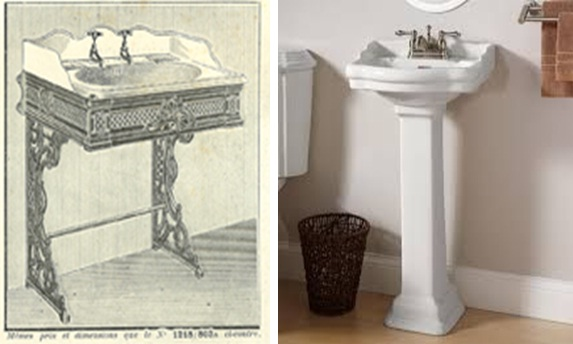 modern ceramic sink with pedestal