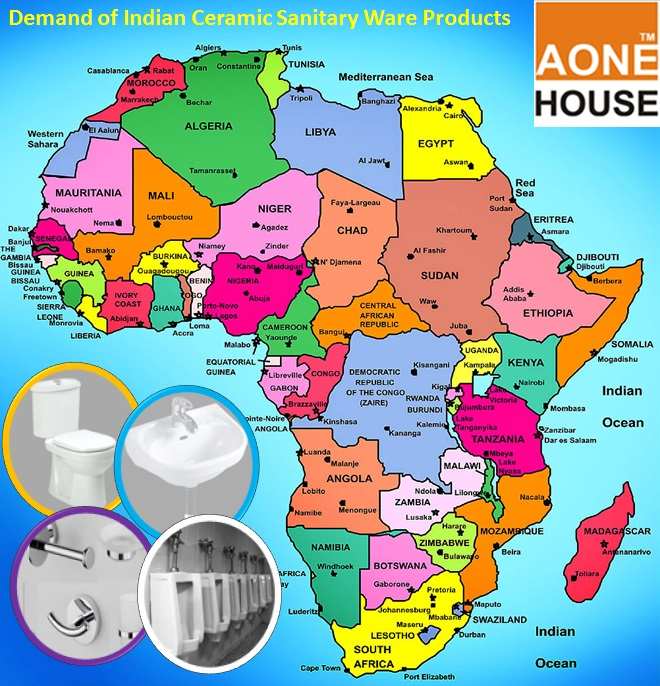 Indian Ceramic Sanitary Ware in African Countries